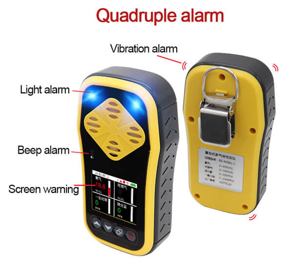 4 in 1 gas detector