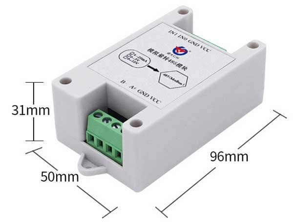 analog to rs485 converter size