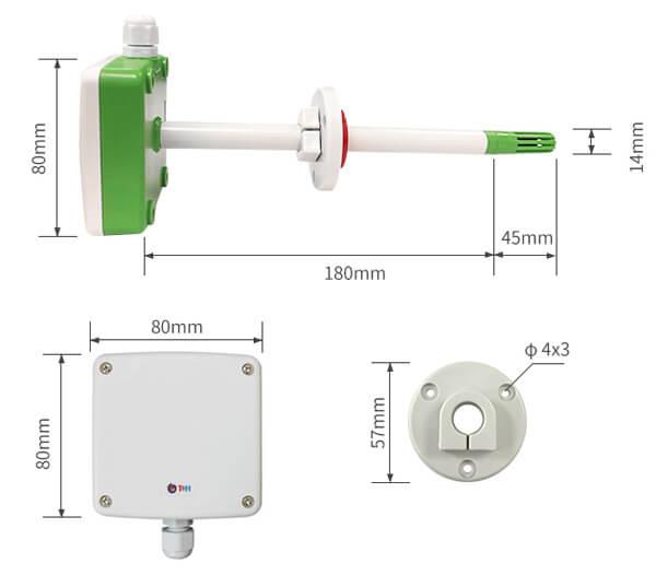 duct temperature sensor size