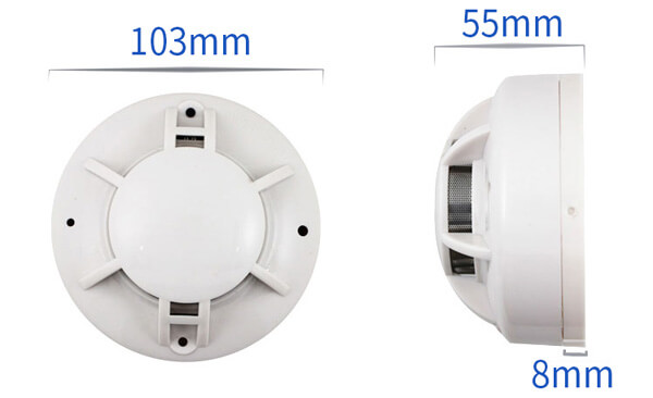 smoke detector size