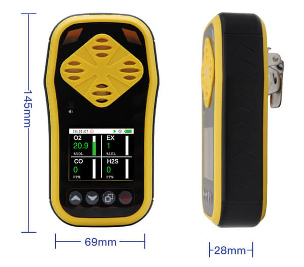 gas detector size