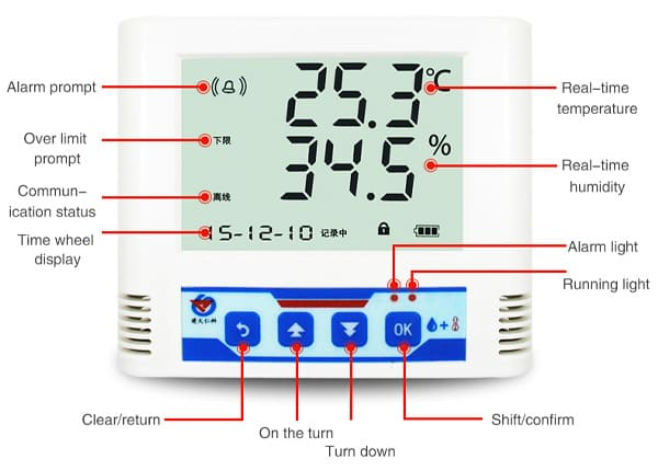 temperature and humidity recorder details