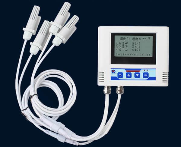 multi-probe temperature and humidity data logger