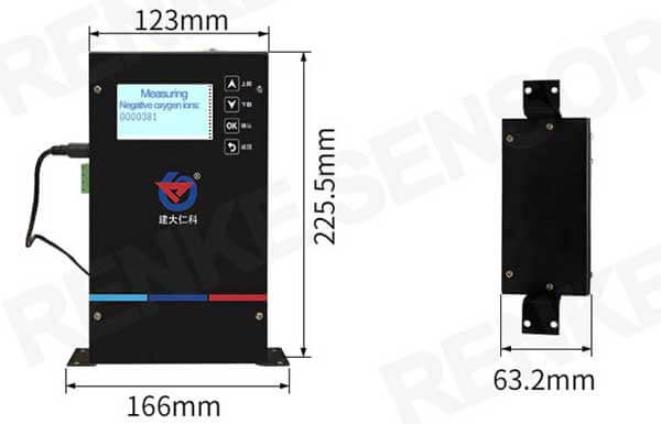 negative ion tester size