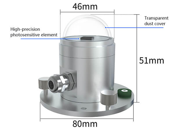 solar radiation sensor size