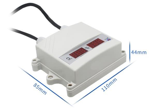 digital temperature and humidity sensor size