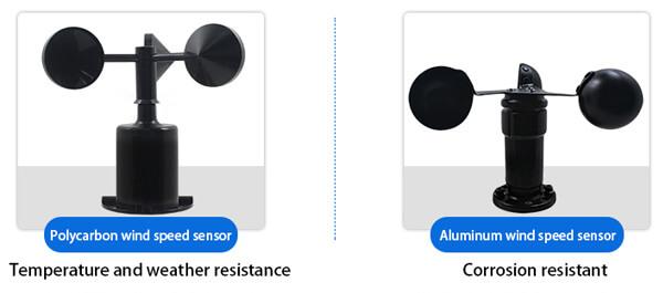 wind speed sensor types