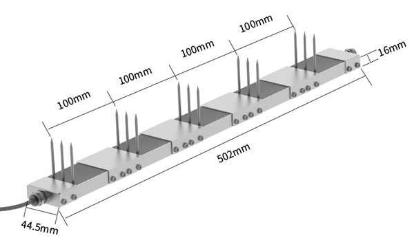 multi layer soil sensor size